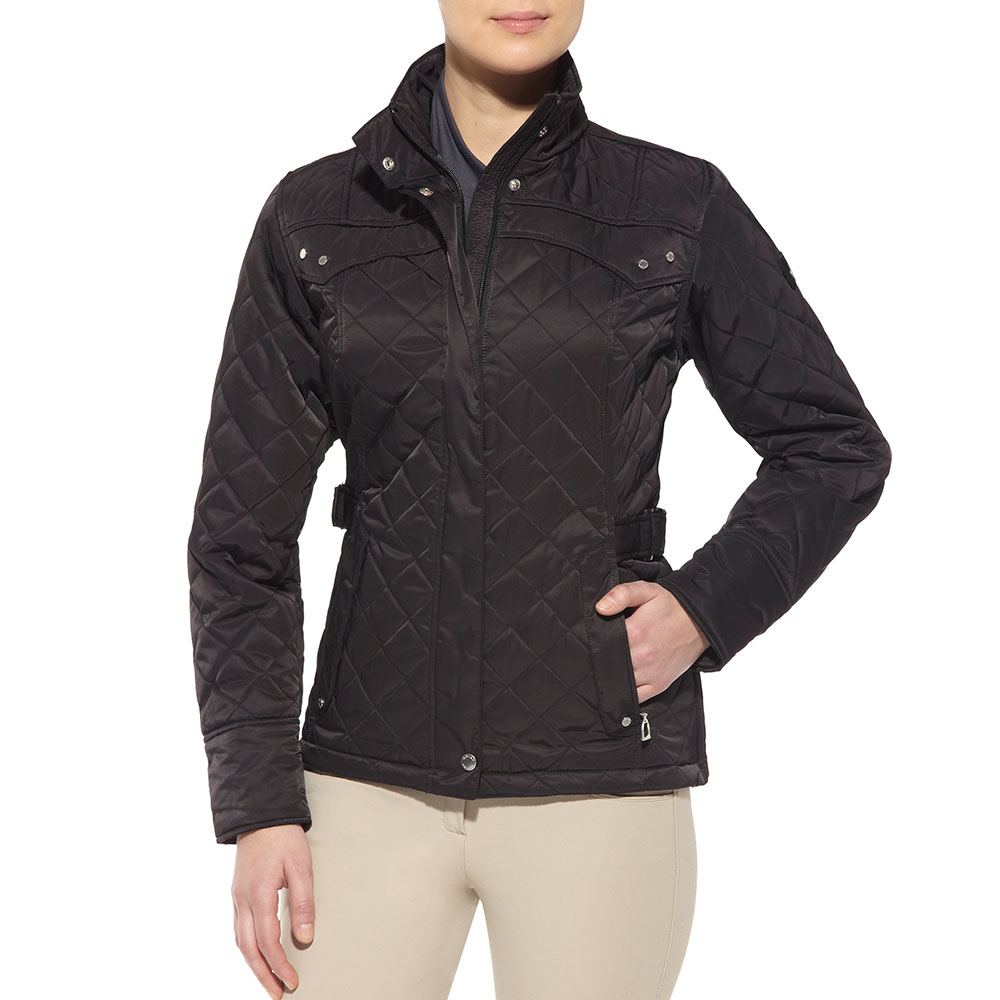 Ariat Bristol Ladies Quilted Jacket - Black - Redpost ...