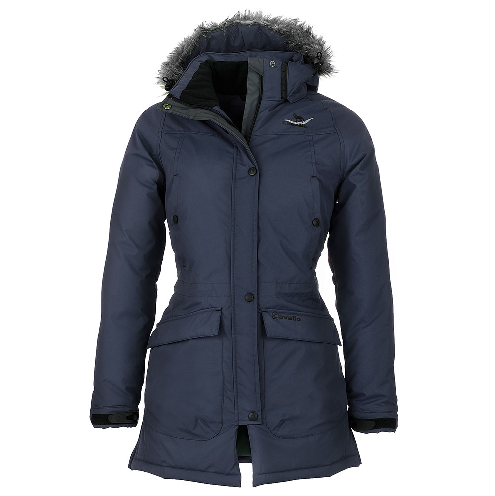 Cavallo Apple Parka Ladies Long Waterproof Jacket - Sapphire Blue ...