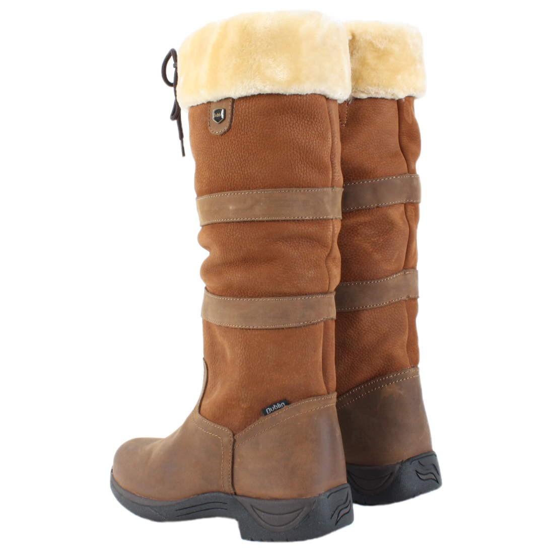 Dublin Eskimo Fleece Lined Tall River Boots Dark Brown