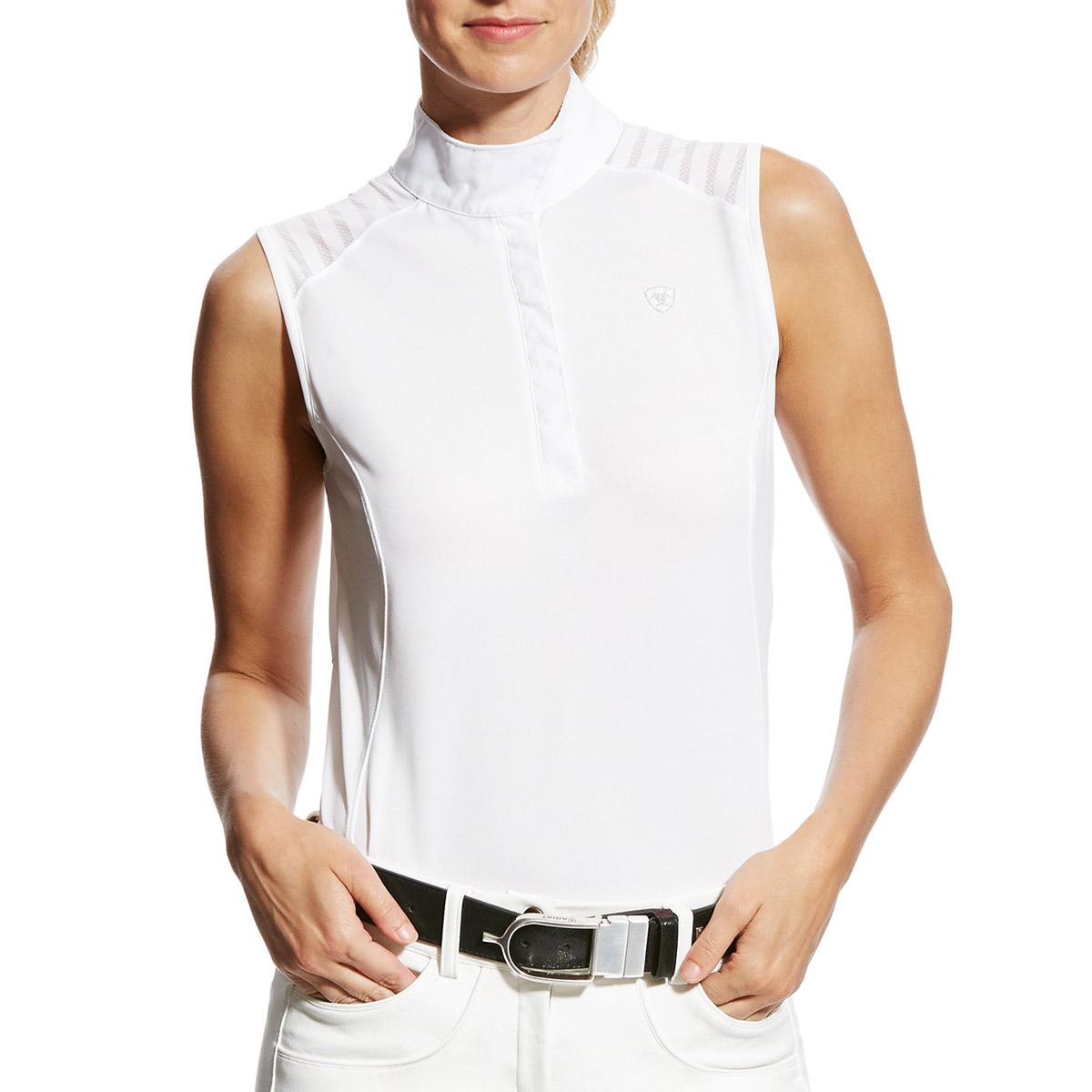 Ariat Vent White Shirt Sleeveless Competition Ladies Aptos ar5qa
