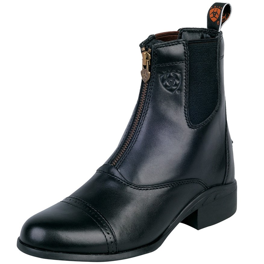 Ariat Heritage III Zip Womens Short Boot - Black - Redpost Equestrian