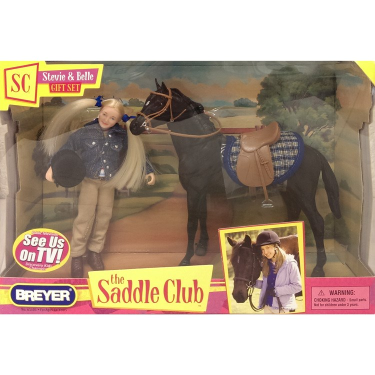 Breyer The Saddle Club Stevie And Belle Gift Set Redpost