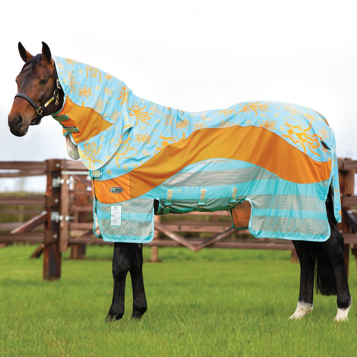 Sporting Goods Horseware Amigo Vamoose Evolution Fly Rug Aqua/Orange