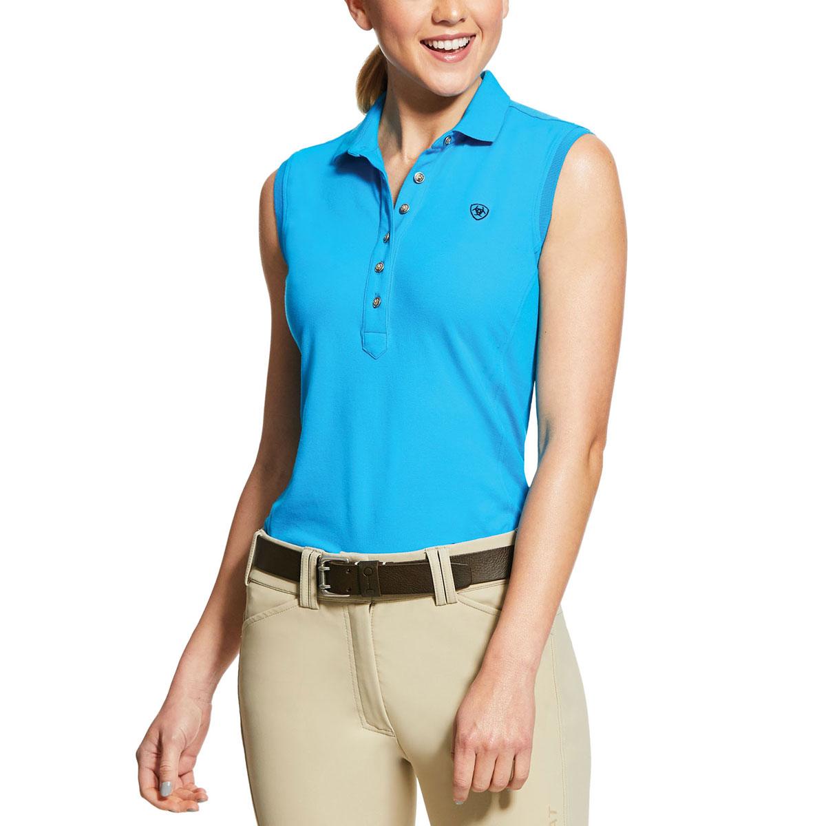Ariat Prix 2.0 Sleeveless Ladies Polo Shirt - Nautilus