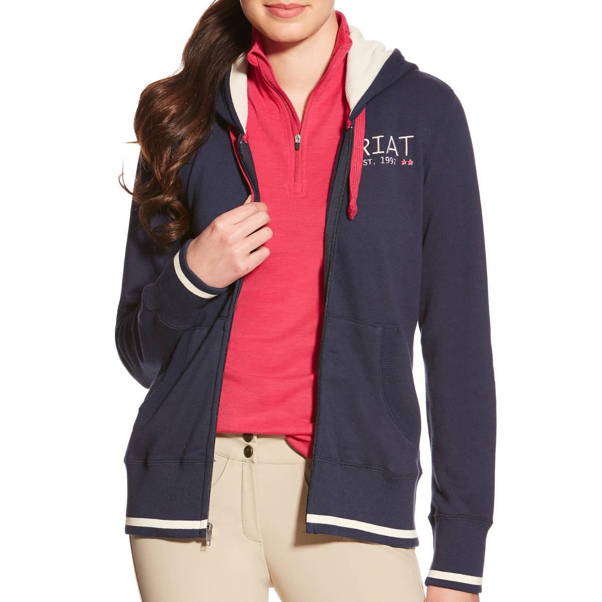 Ariat Cali Ladies Full Zip Hoodie - Navy - Redpost Equestrian f87655f68865