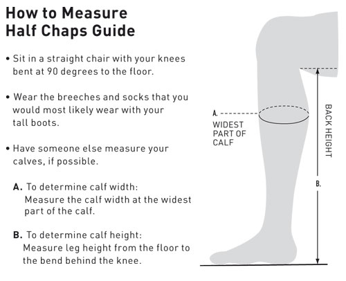 Image result for How to measure for mini chaps