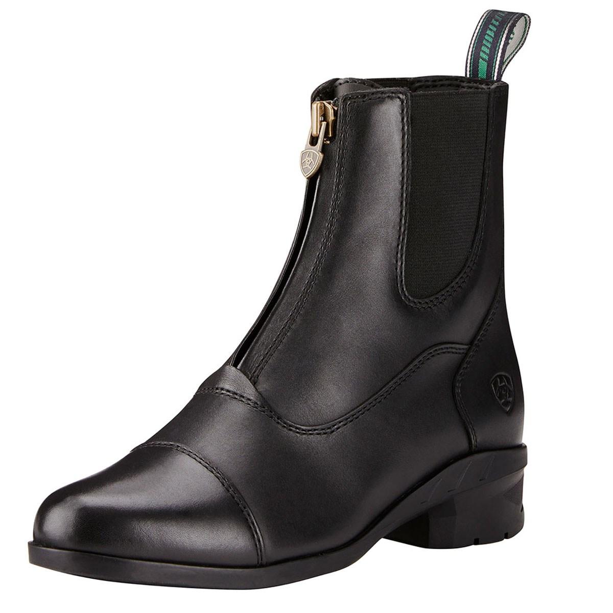 ac63fbeb7fbc Ariat Heritage IV Zip Womens Short Boot - Black - Redpost Equestrian