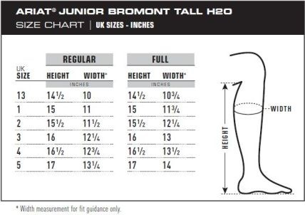 Ariat Bromont Junior Tall H20 Non-Insulated - Black - Redpost ...