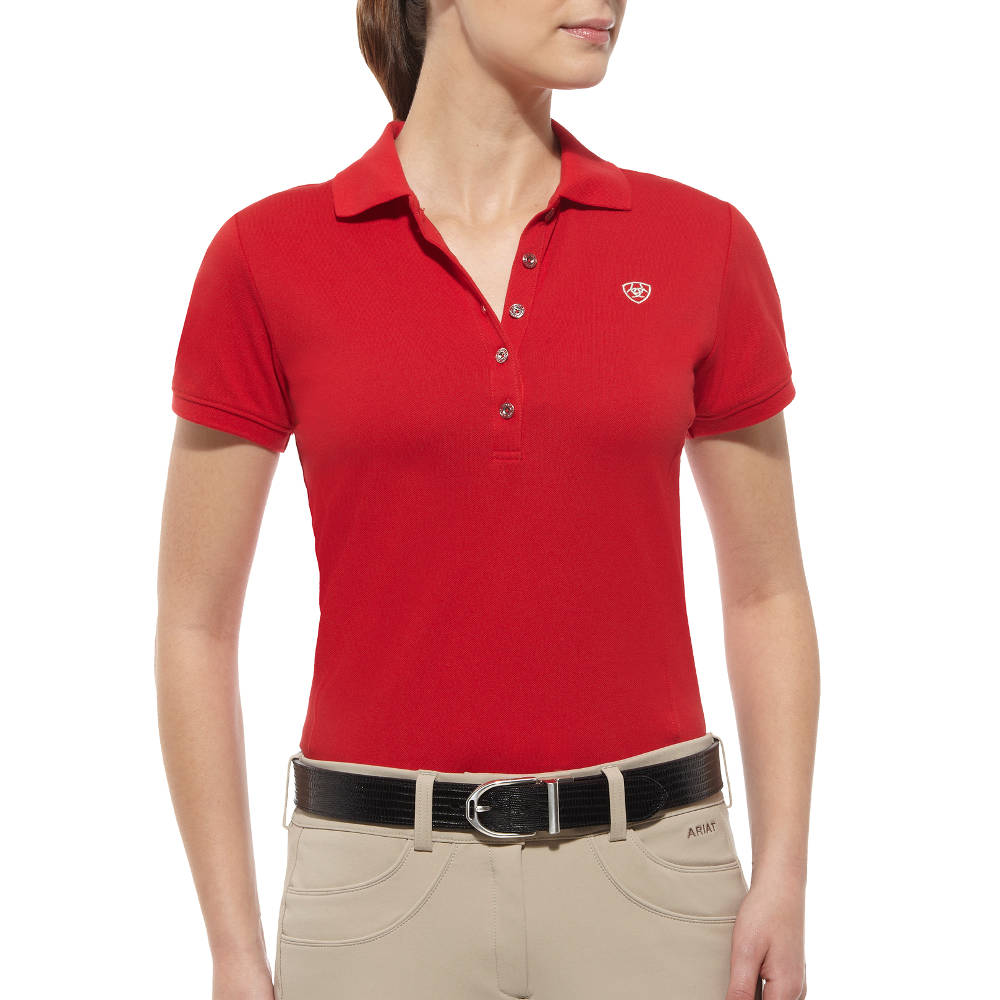 Ariat Prix Classic Womens Polo Shirt - Cherry - Redpost Equestrian cea125cd10