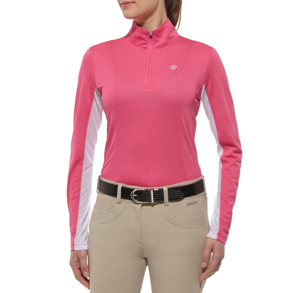 Ariat Sunstopper Womens Show Shirt Pink Paradise