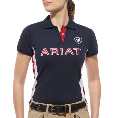 Ariat Team Ladies Polo Shirt Navy Redpost Equestrian