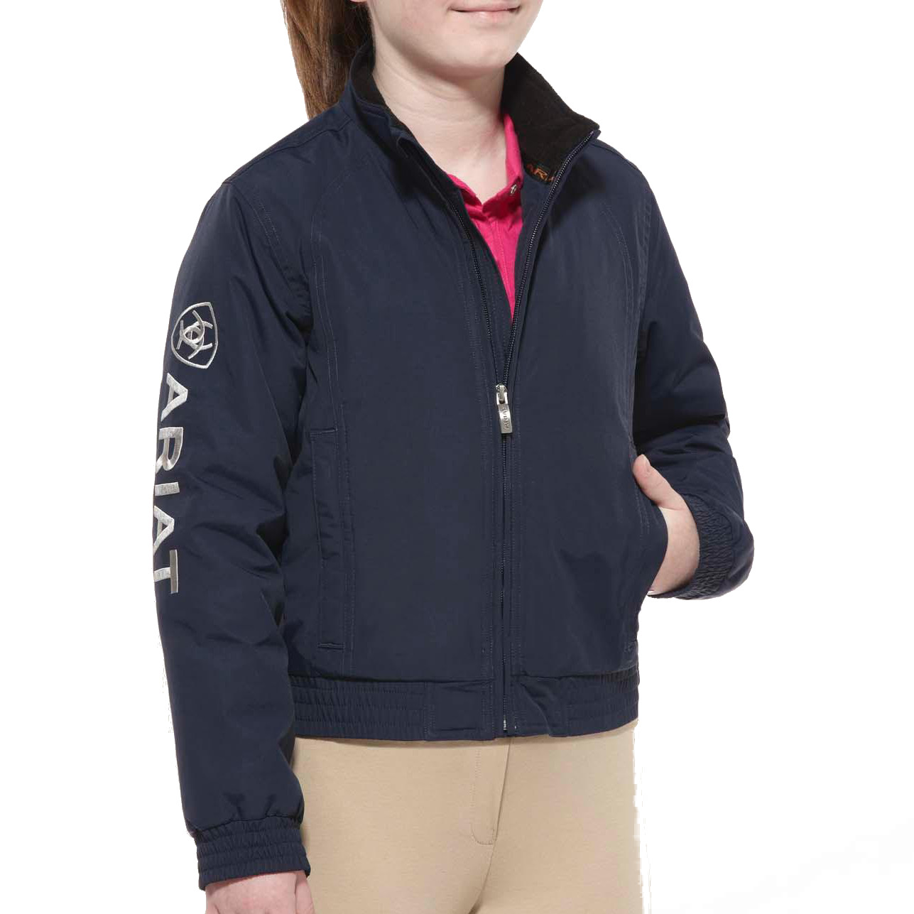 Ariat Youth Stable Team Blouson Jacket Navy Redpost