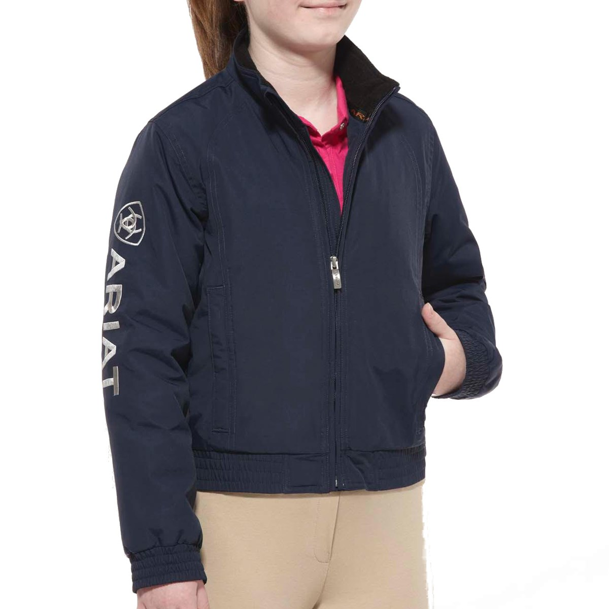 487ce2d17ed Ariat Youth Stable Team Blouson Jacket - Navy - Redpost Equestrian