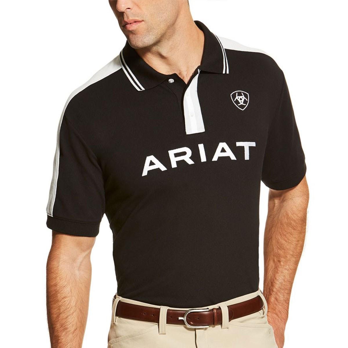 ee3922d4 Ariat New Team Mens Polo Shirt - Black - Redpost Equestrian