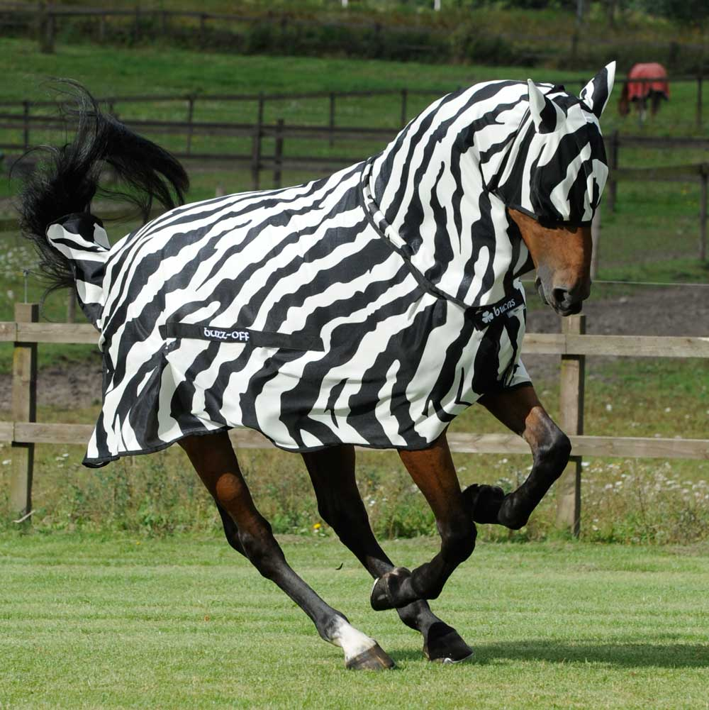 Bucas Buzz-Off Full Neck Zebra Fly Rug