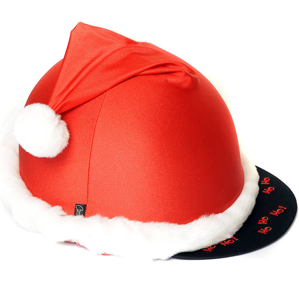 Carrots father christmas hat cover red redpost equestrian
