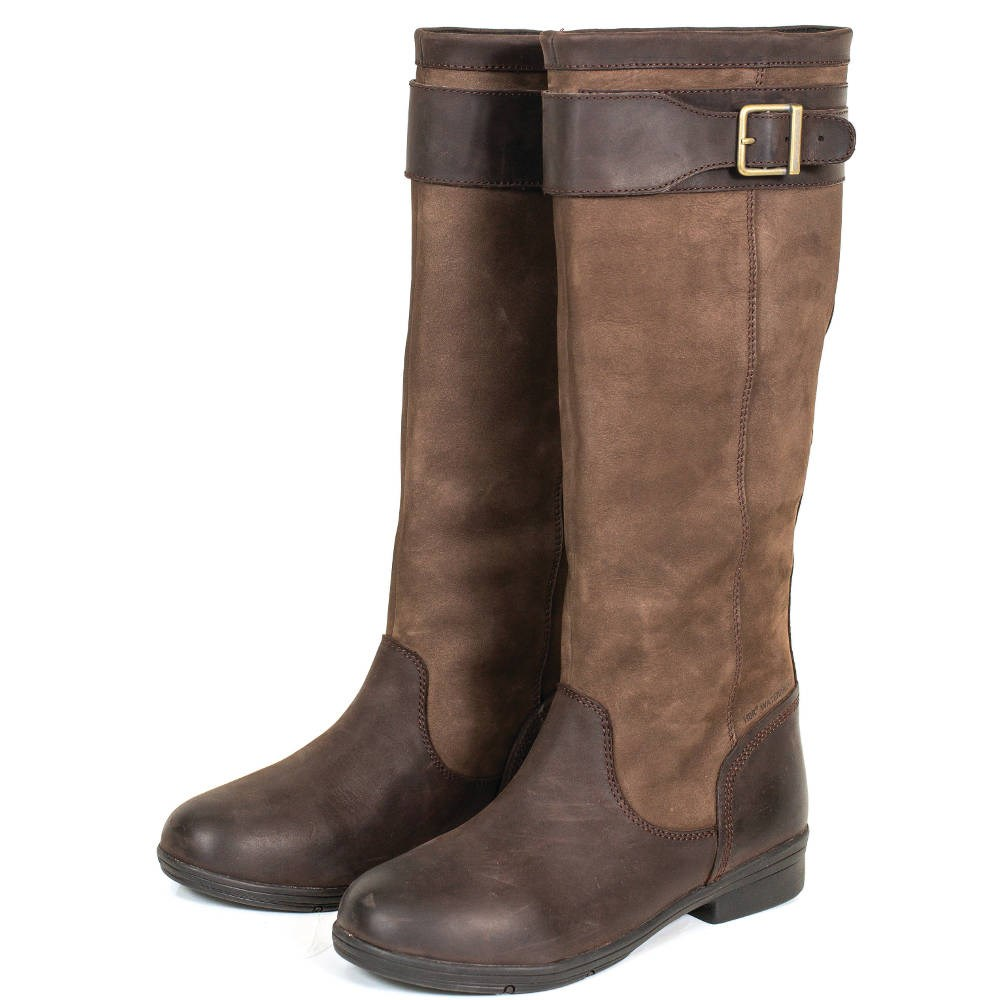 the best 100% quality reputable site Dublin Estuary Tall Leather Riding Boots - Dark Brown