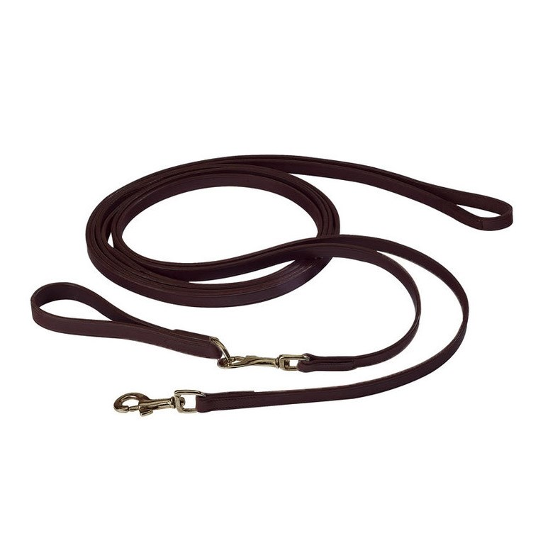 Eric Thomas Leather Draw Reins Havana Redpost Equestrian
