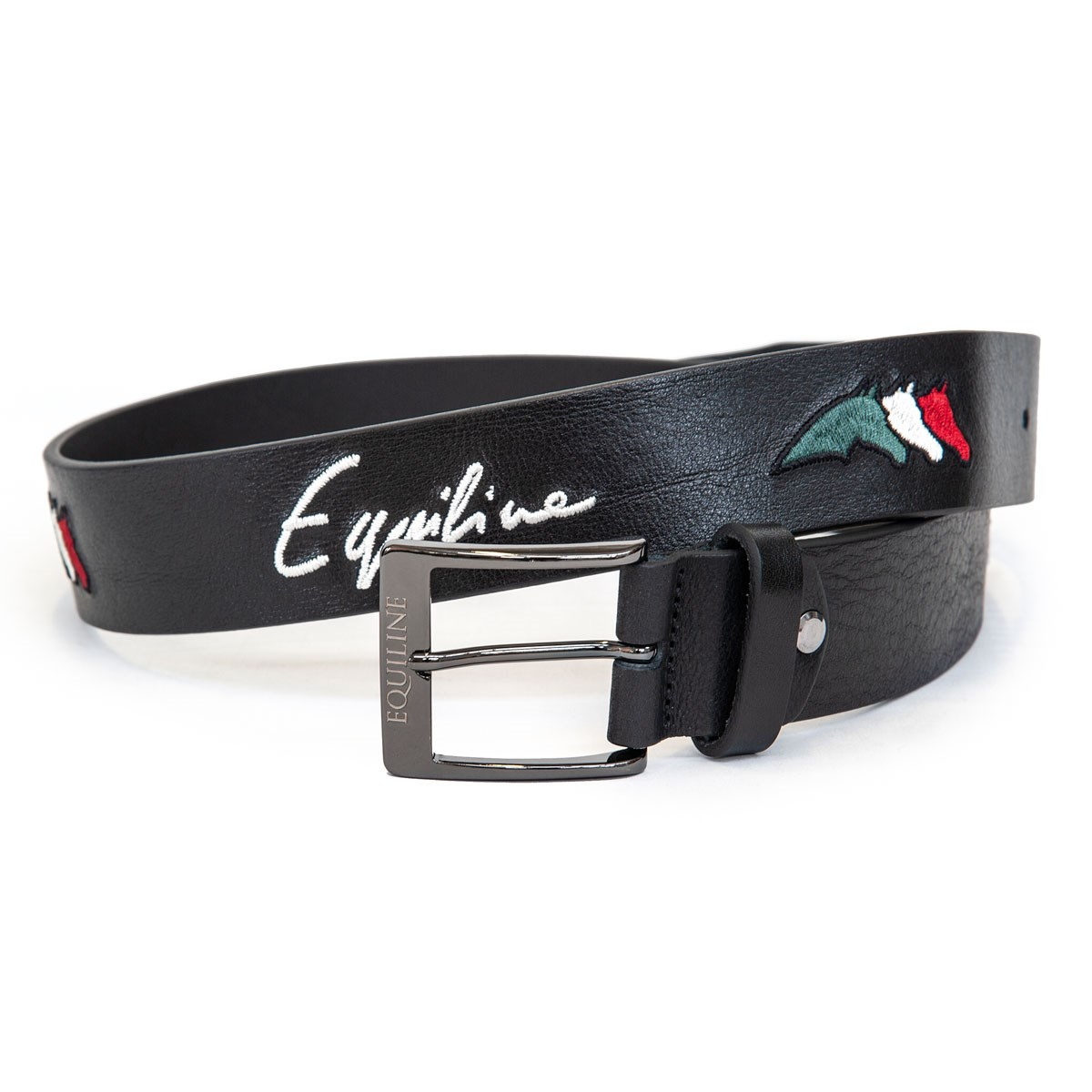 57acd7269 Equiline Logfil Unisex Leather Belt - Black - Redpost Equestrian