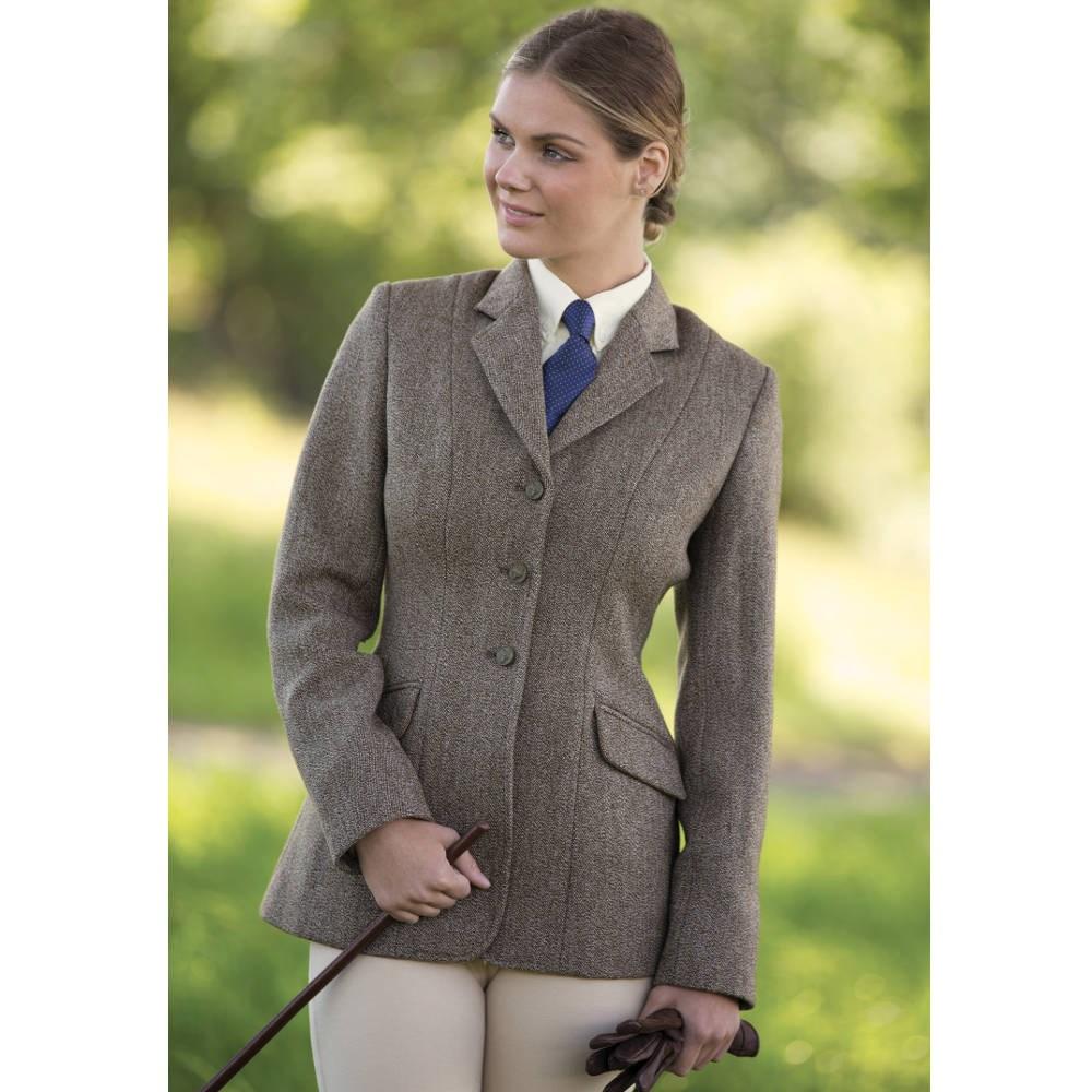 Equetech Keepers Ladies Tweed Jacket Brown Redpost