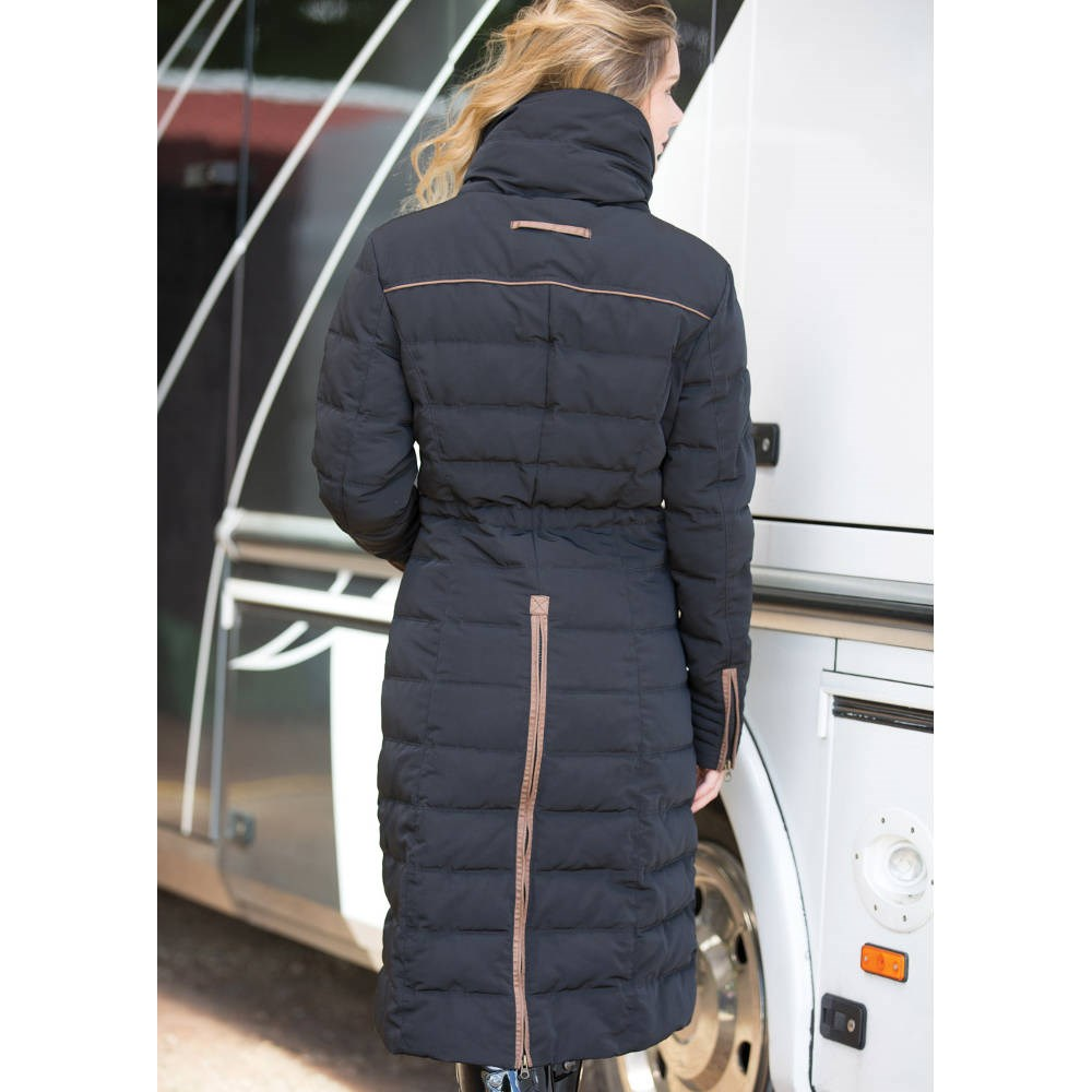 Equetech Kingsley Long Quilted Ladies Jacket Black