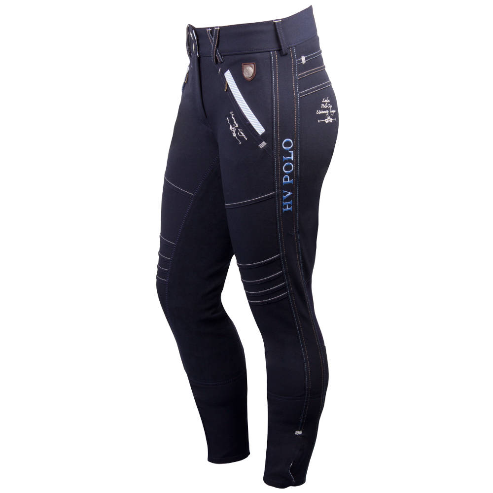 134933523be5 HV Polo Madonna Full Seat Ladies Breeches - Navy Blue - Redpost Equestrian
