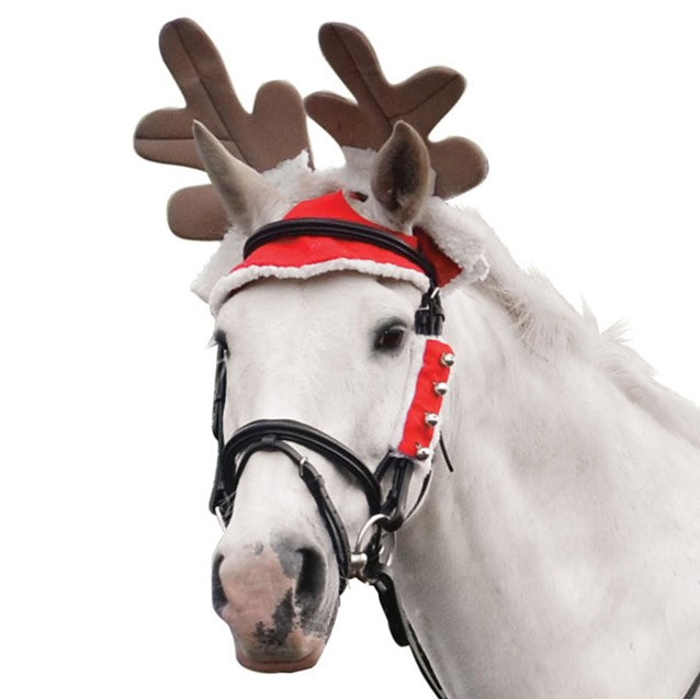 Christmas Horse Pictures.Hy Christmas Reindeer Antler Horse Hat Red White