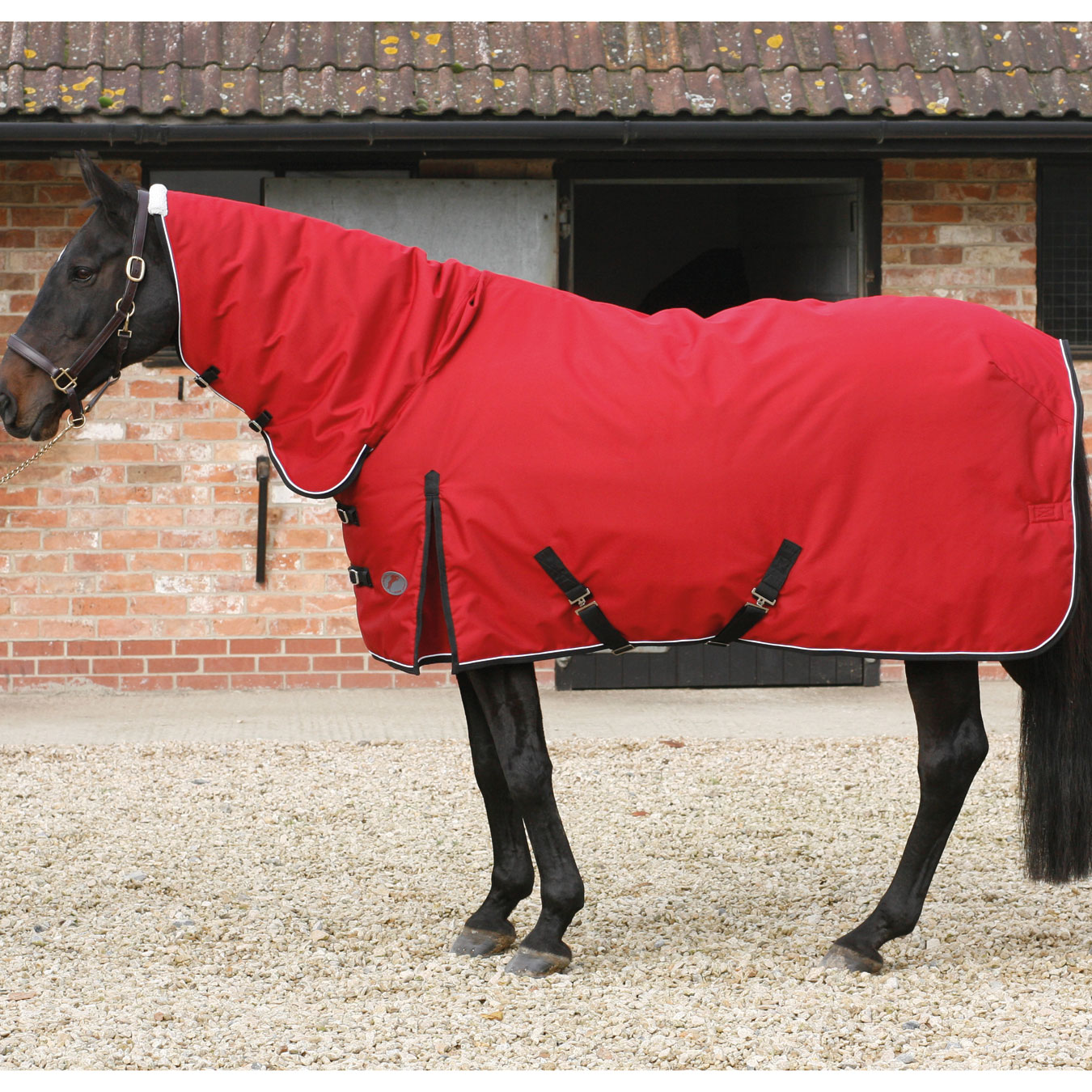 Jhl Heavyweight Stable Combo Rug 400g Red Black