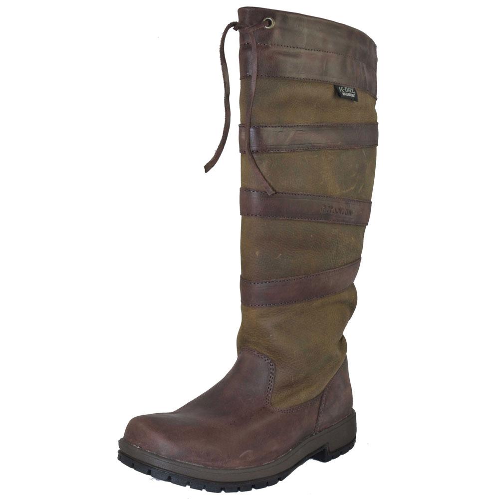 kanyon rowan waterproof leather country boot brown