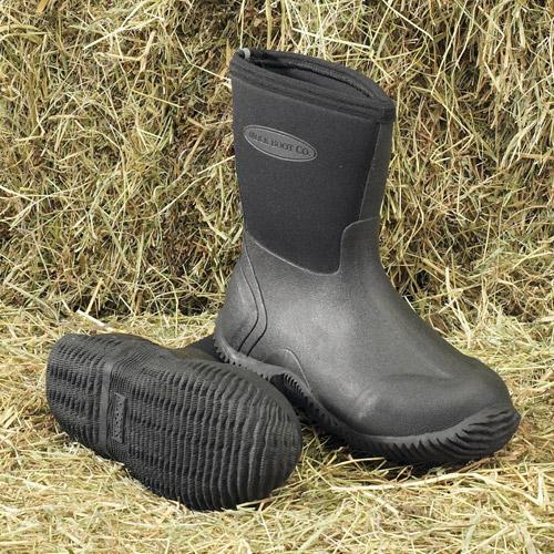 Muck Boot Muddie Childrens Short Wellie Boots - Black - Redpost ...