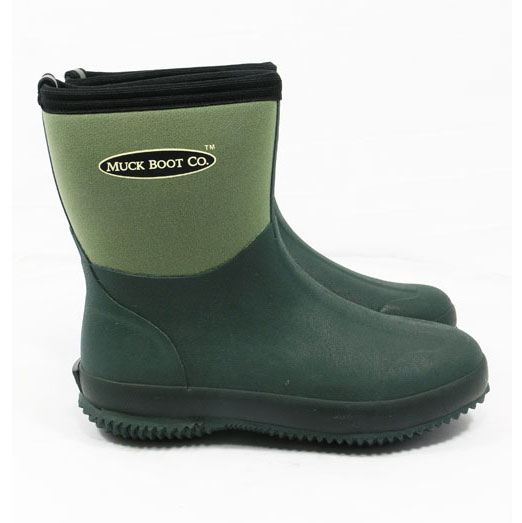 Muck Boot Ribble Short Wellington Boots - Green - Redpost Equestrian