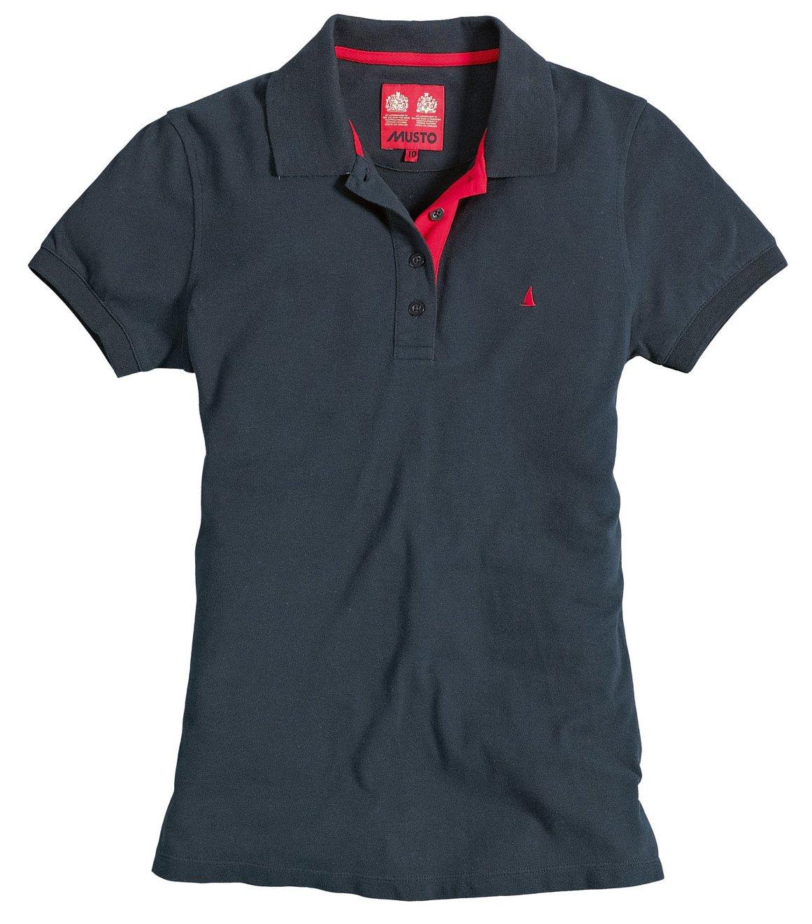 Musto Natalia Ladies Polo Shirt Navy Redpost Equestrian