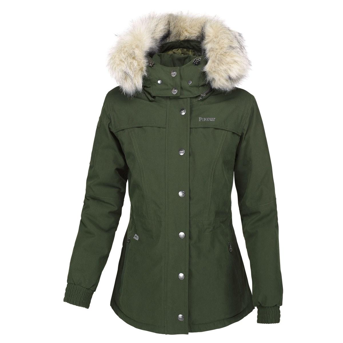 688c920aa24 Pikeur Dea Ladies Waterproof Short Parka Jacket - Pine Green