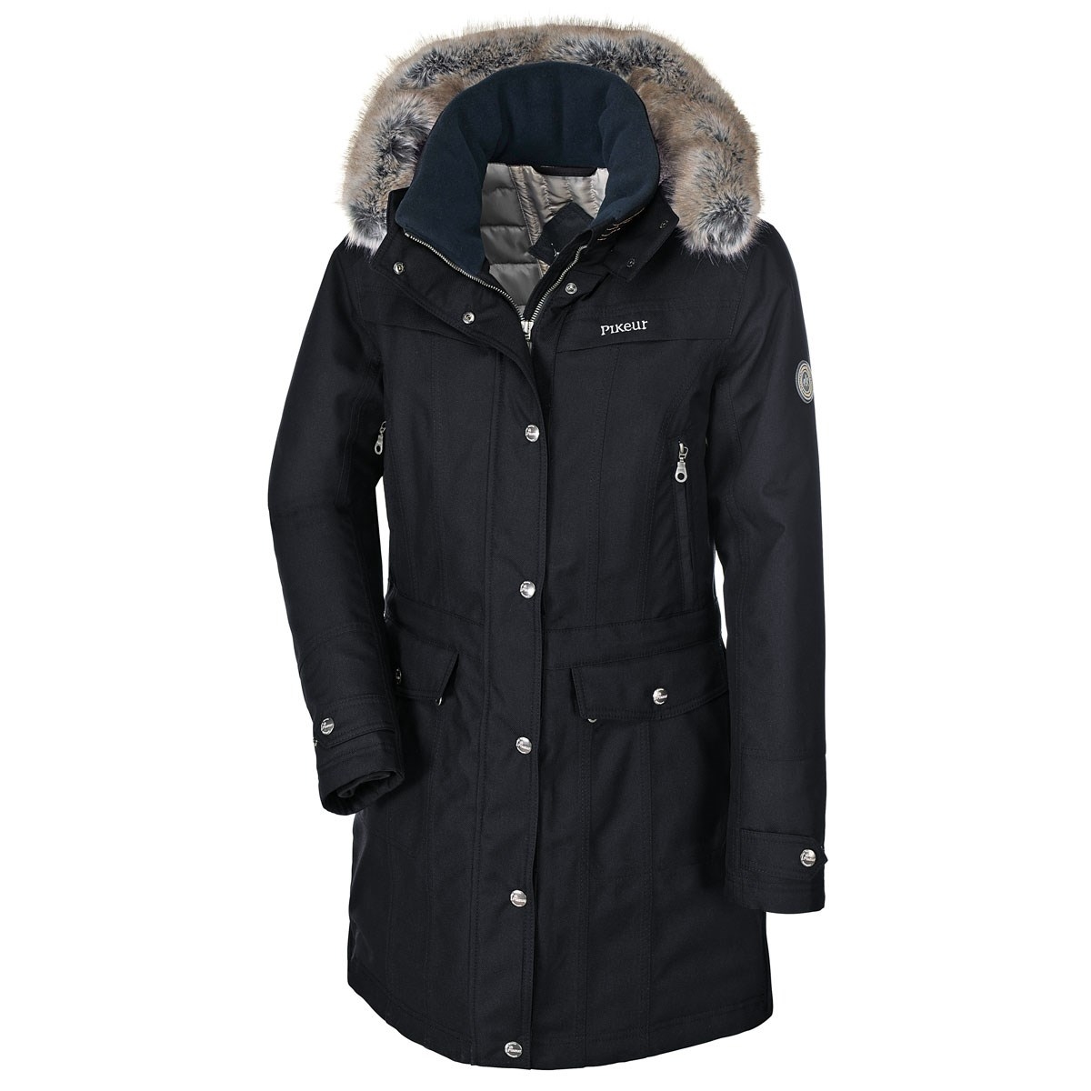 Pikeur Alana Long Ladies Parka Jacket - Dark Navy - Redpost Equestrian