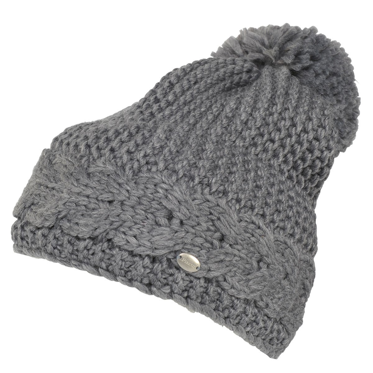 e8f5646eab2 Pikeur Cable Knit Bobble Hat - Grey Melange - Redpost Equestrian