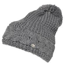 a9cc68f711d Pikeur Cable Knit Bobble Hat - Grey Melange
