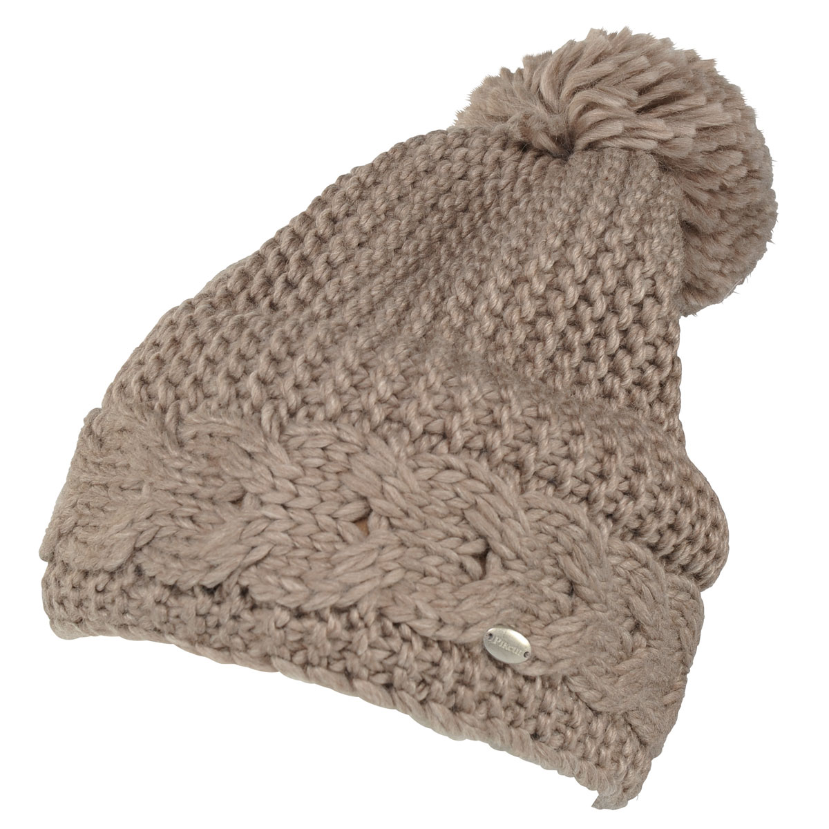 0b15e846ffc Pikeur Cable Knit Bobble Hat - Light Taupe - Redpost Equestrian