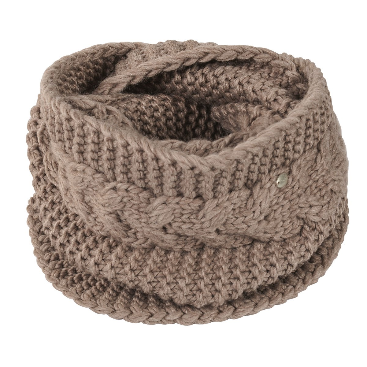 4f5bf34eabd Pikeur Cable Knit Loop Neck Warmer - Light Taupe - Redpost Equestrian
