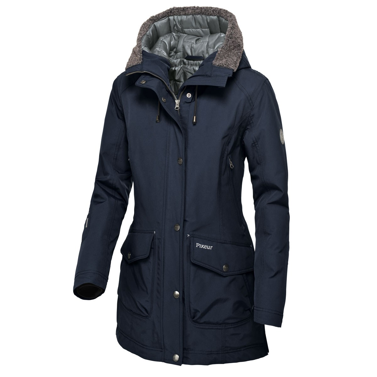 Pikeur Catalina Waterproof Ladies Parka Jacket - Night Blue ...