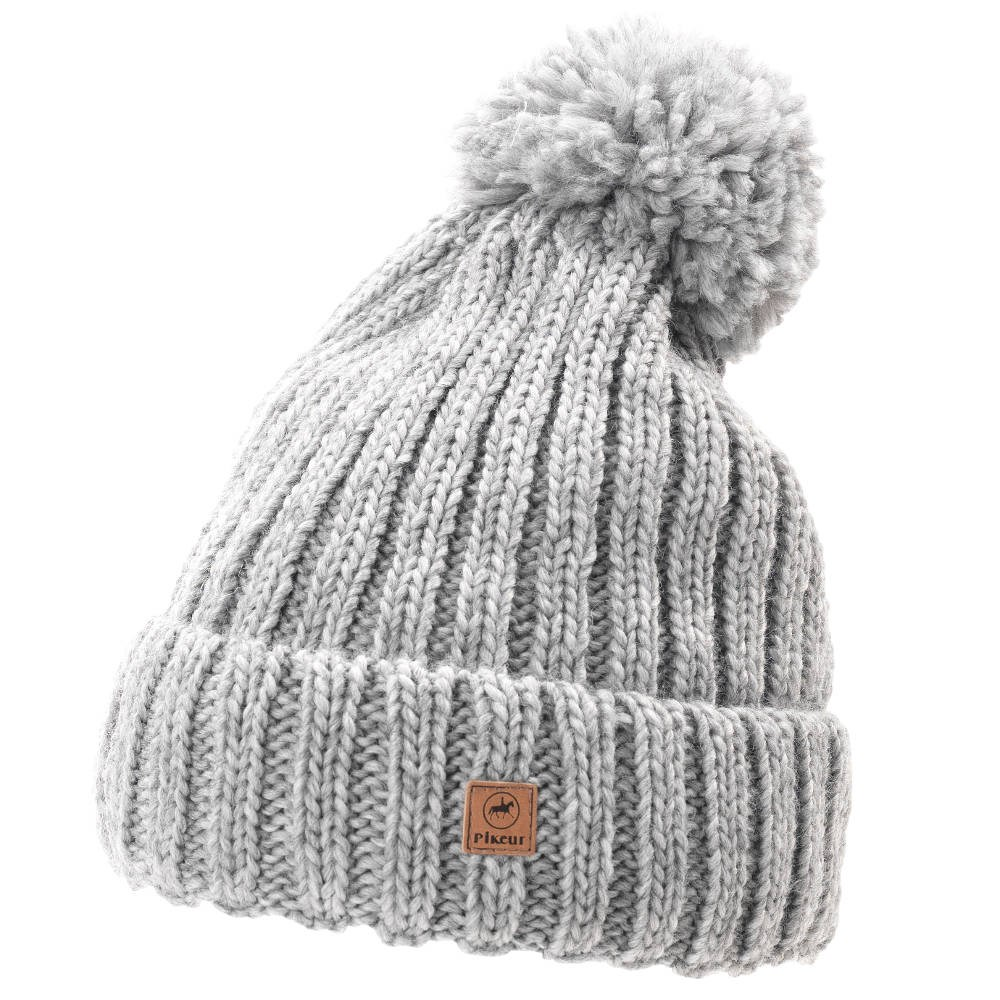 f2a3afe01a1 Pikeur Knit Bobble Hat - Light Grey - Redpost Equestrian