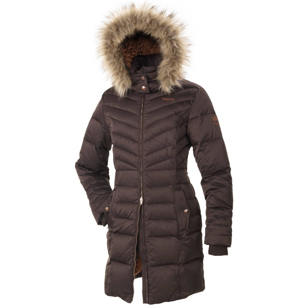 72f318b78f39 Pikeur Ladita Ladies Long Quilted Coat Premium Collection - Brown - Redpost  Equestrian