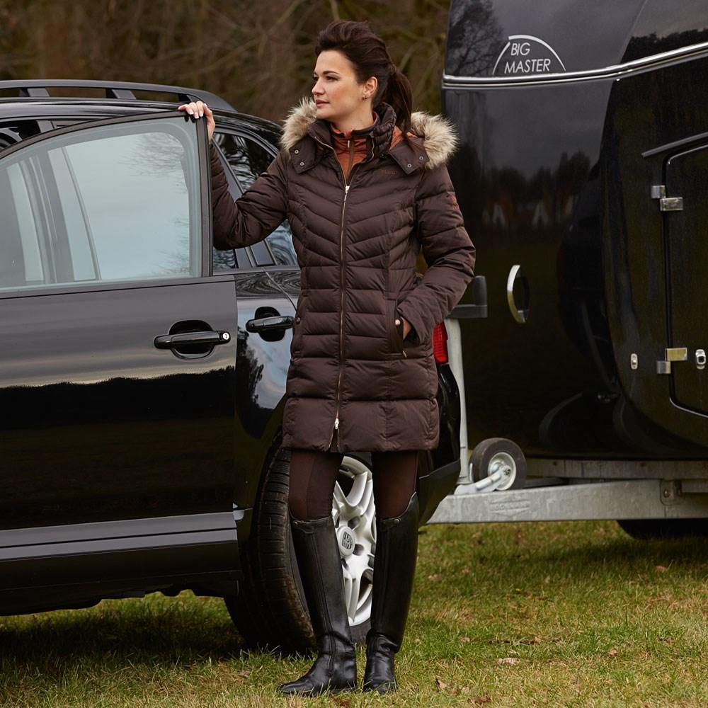 Pikeur Ladita Ladies Long Quilted Coat Premium Collection - Brown ... : brown quilted coat - Adamdwight.com