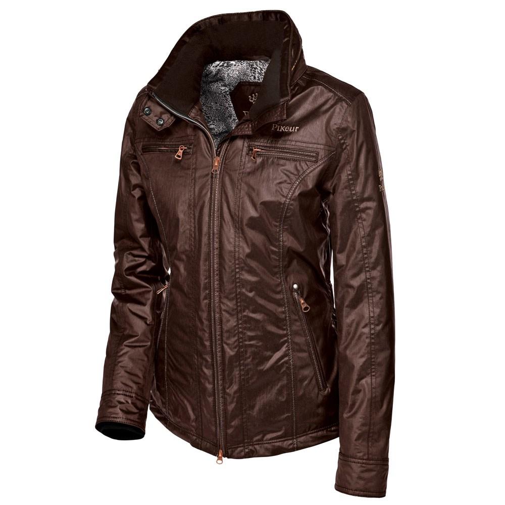 668425439430 Pikeur Nira Ladies Waterproof Jacket Premium Collection - Dark Copper -  Redpost Equestrian