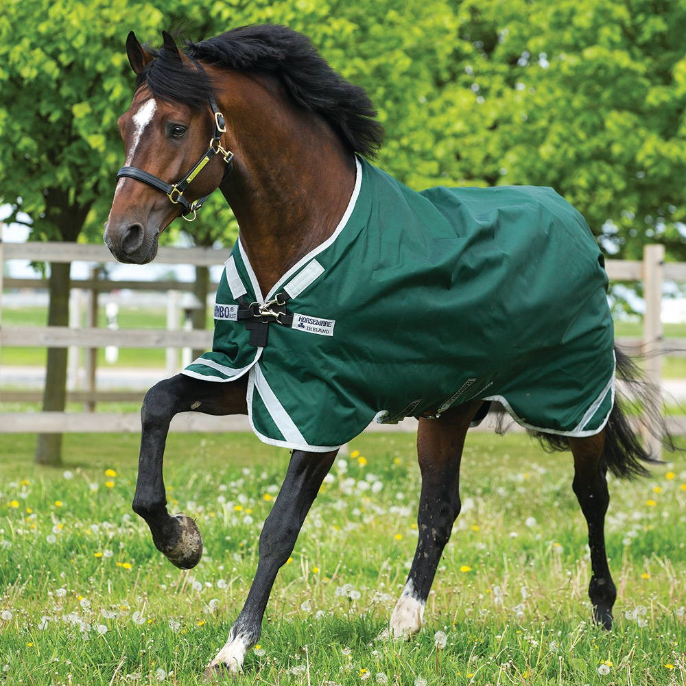 Rambo Original Lite 0g Turnout Rug With Leg Arches Green