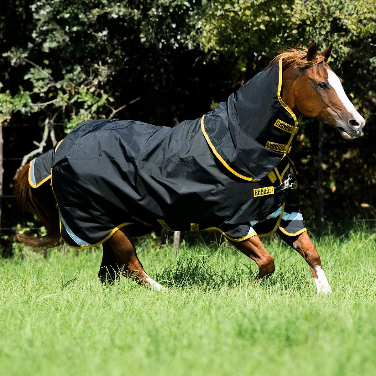 Black All Sizes Rambo Supreme Lite 0g Horse Rug Turnout