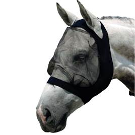 06154389e33 Roma Stretch Eye Saver Fly Mask Without Ears - Black Black