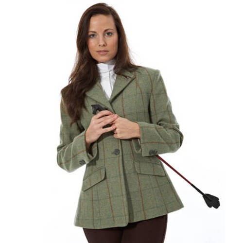 7040ae6d9c2c5 Sherwood Forest Campolino Ladies Tweed Jacket - Olive/Brown Check - Redpost  Equestrian
