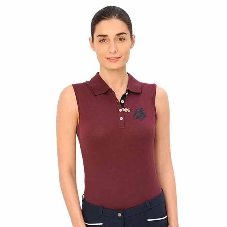 Spooks Mara Ladies Sleeveless Polo Shirt - Bordeaux