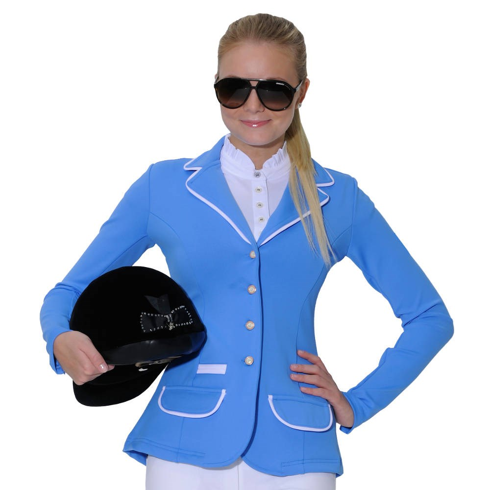Spooks Show Jacket Ladies with Piping - Ocean Blue/White - Redpost ...