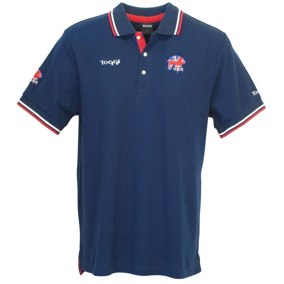 Toggi Team Gbr Harris Unisex Polo Shirt Navy Redpost